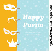 Purim - Jewish Holiday Purim Set. Vector Illustration. Happy Purim.