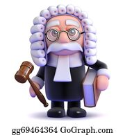 Judge-Gavel - 3d Judge Holds A Gaval And Book