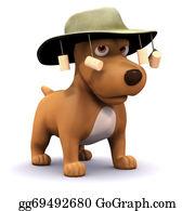 Australian - 3d Dog Goes To Australia