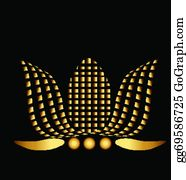 Golden-Lotus-Flower-Logo - Gold Lotus Company Graphic Logo