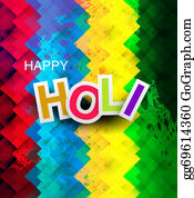 Holi-Festival-Celebration - Beautiful Texture Colorful Holi Festival Vector Illustration