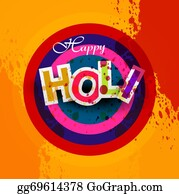 Holi-Festival-Celebration - Indian Festival Happy Holi Splash Bright Colorful Design Vector