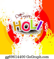 Holi-Festival-Celebration - Beautiful Vector Background Colorful Grunge Of Holi Festival Design