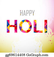 Holi-Festival-Celebration - Beautifuli Holi Text Colorful Festival Background Vector