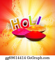 Holi-Festival-Celebration - Beautiful Background Of Indian Festival With Gulal Colorful Holi Vector