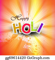 Holi-Festival-Celebration - Vector Illustration Happy Holi For Colorful Indian Festival Celebration Background