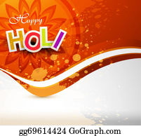 Holi-Festival-Celebration - Vector Background Of Colorful Grunge Holi Festival Design