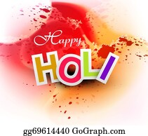 Holi-Festival-Celebration - Beautiful Grunge Colorful Gulal Of Holi Festival Vector Background
