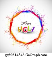 Holi-Festival-Celebration - Beautiful Grunge Circle Colorful Indian Festival Happy Holi Background  Illustration