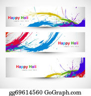 Holi-Festival-Celebration - Header Colorful Set Grunge Dirty Of Holi Festival Vector Design