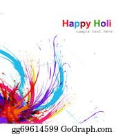 Holi-Festival-Celebration - Beautiful Illustration Of Holi Colorful Grunge Background Vector Design