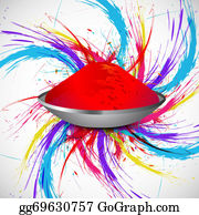 Holi-Festival-Celebration - Beautiful Holi Colorful Indian Festival Grunge Stylish Wave On Gulal Background Vector