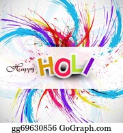 Holi-Festival-Celebration - Gulal For Holi Festival Background Beautiful Swirl Grunge Of Colorful Wave Design