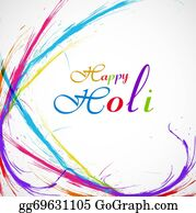 Holi-Festival-Celebration - Beautiful Grunge Colorful Stylish Wave Background Of Indian Festival Holi Card Illustration Vector