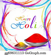 Holi-Festival-Celebration - Beautiful Gulal For Holi Grunge Colorful Stylish Wave Background Vector