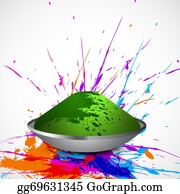 Holi-Festival-Celebration - Beautiful Splash Of Colorful Grunge Background Gulal For Holi Festival Vector Wallpaper
