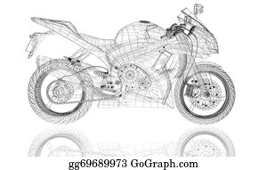 Motorcycle - Bike, Motorcycle,  3d Model