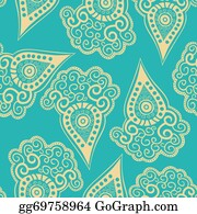 Paisley-Art - Chinese Seamless Pattern With Paisley.