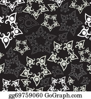 Paisley-Art - Seamless Pattern With Stars, Floral Background.