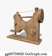 Sewing-Machine - Wooden Sewing Machine