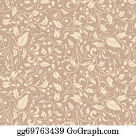 Classic-Victorian-Pattern - Elegant Stylish Abstract Floral Wallpaper.
