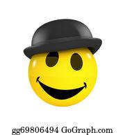 Bowler-Hat - 3d Smiley Businessman