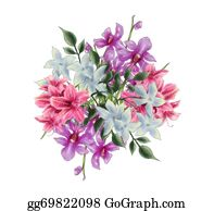 Orchid-Flower - Bouquet Illustration