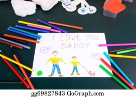 I-Love-You-Dad - Child's Drawing Daddy, I Love You