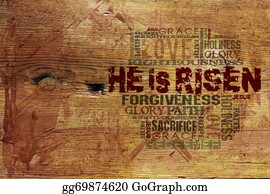 "God - ""he Is Risen"" Religious Background"