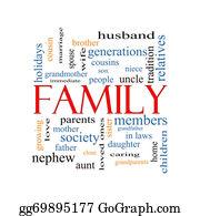 Aunt - Family Word Cloud Concept