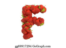 Letter-F - Strawberry Letter F