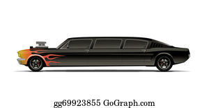 Muscle-Car - Supercharged Muscle Car Limo With Flames