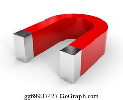 Gravity-Field - Red Horseshoe Magnet.