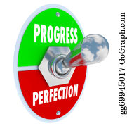 Fast-Forward - Progress Or Perfection Toggle Switch Choose Moving Forward