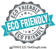 Eco-Friendly-Label - Eco Friendly Blue Grunge Retro Style Isolated Seal