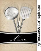 Utensils - Menu Template - Old Paper And Metal