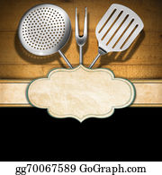 Utensils - Rustic Menu Template