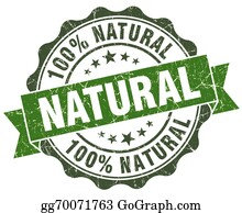 Eco-Friendly-Label - Natural Green Grunge Retro Style Isolated Seal