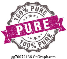Eco-Friendly-Label - Pure Violet Grunge Retro Style Isolated Seal