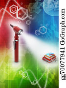 Medical-Textbook - Otoscope And Medical Text Books