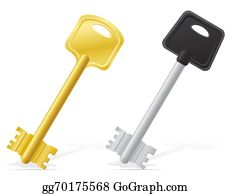 House-Alarm-Concept-Icon - Keys Door Lock Illustration
