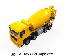 Cement-Truck - Yellow Concrete Mixer Truck