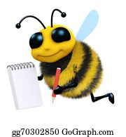 Bee-Hive - 3d Bee Takes Notes