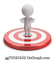 Bullseye - 3d Small People - Goal