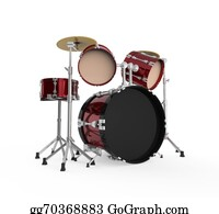Drum-Set - Drum Kit Isolated