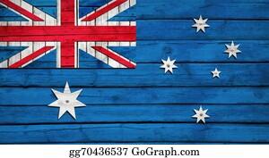 Australian - Australian Flag Painted On Wooden Boards