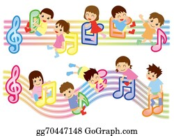 Musical-Notes - Musical Score And Kids (asian)