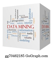 Mining - Data Mining 3d Cube Word Cloud Concept