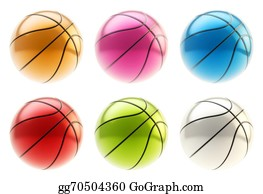 Six-Spheres-Balls-Illustration-With - Basketball Ball Render Isolated