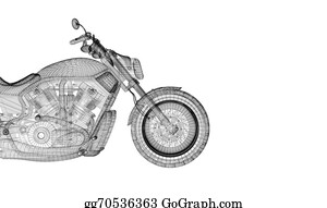 Black-White-Mode - Motorcycle On A Background